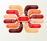 Wektorowy infographic szablon dla diagrama, wykres, prezentacja i Zdjęcia Royalty Free