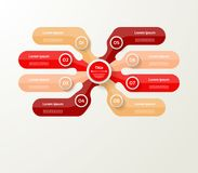 Wektorowy infographic szablon dla diagrama, wykres, prezentacja i Zdjęcie Royalty Free