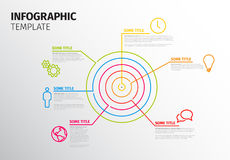 Wektorowy Infographic szablon z okręgu celem Obraz Royalty Free