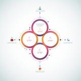 Wektorowy infographics, 3D papieru cyklu diagrama szablon 12-23-16 ilustracja wektor