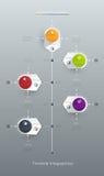 Wektorowy infographics linii czasu projekta szablon z etykietka projektem royalty ilustracja