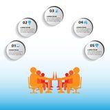 Wektorowy infographics, minuty spotkanie, chwytał punkty w biurowych biznesowych spotkaniach przez ten infographics, także używać Obraz Stock