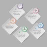Wektorowy infographics szablon Zdjęcia Royalty Free