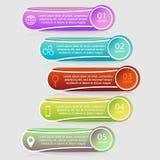 Wektorowy infographics szablon Obrazy Royalty Free