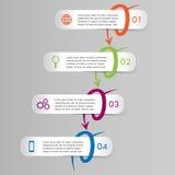 Wektorowy infographics szablon Obraz Stock