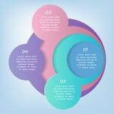 Wektorowy infographics szablon Fotografia Royalty Free