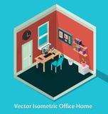 Wektorowy isometric biuro dom 3D isometric Obrazy Stock