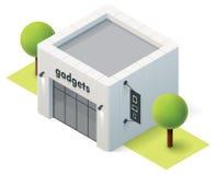 Wektorowy isometric gadżetu sklep Obrazy Royalty Free