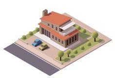 Wektorowy isometric nowożytny dom Zdjęcia Stock