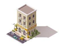 Wektorowy isometric urząd pocztowy ilustracja wektor