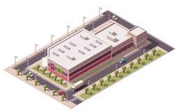 Wektorowy isometric zakupy centrum handlowe Obrazy Royalty Free