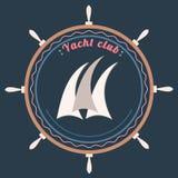 Wektorowy jachtu klubu logo ilustracja wektor