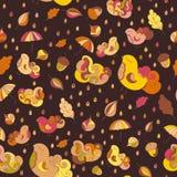 Wektorowy jesień tematu tło Seamess wzór dla twój projektów royalty ilustracja