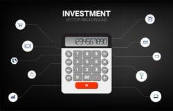 Wektorowy kalkulator z czynnościową ikoną ilustracji