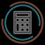 Wektorowy kalkulatora symbol - matematyki ilustracji znak odizolowywający royalty ilustracja