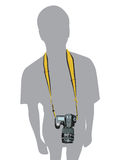 Wektorowy kamera mężczyzna DSLR fotograf Zdjęcie Royalty Free