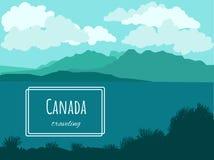 Wektorowy kanadyjczyka krajobraz - paralaksa skutek ilustracja wektor