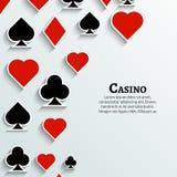 Wektorowy karta do gry symbolu tło Kasyno grępluje tło plakat ilustracja wektor