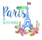 Wektorowy kartka z pozdrowieniami od Paryż Obrazy Royalty Free