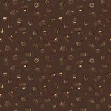 Wektorowy kawa wzór Brown kolor Fotografia Royalty Free