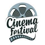 Wektorowy kinowy festiwalu plakat z ekranow? pasek rolk? ilustracji