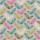 Wektorowy Kolorowy abstrakcjonistyczny retro wzór 07 Zdjęcia Stock