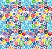 Wektorowy Kolorowy abstrakt okrąża bezszwowego wzór Zdjęcia Stock