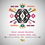 Wektorowy kolorowy dekoracyjny element na miejscowym Zdjęcia Royalty Free