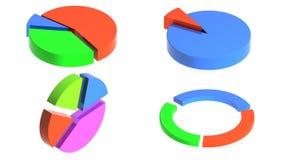 Wektorowy kolorowy diagram etap życia schemat/ Fotografia Royalty Free