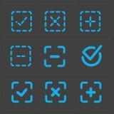 Wektorowy kolorowy potwierdza ikony ustawiać Obrazy Stock