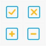 Wektorowy kolorowy potwierdza ikony ustawiać Zdjęcie Stock