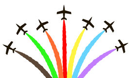 Wektorowy kolorowy samolot Fotografia Royalty Free