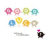 Wektorowy kolorowy szczęście (angielszczyzna listy) Obraz Royalty Free