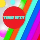 Wektorowy kolorowy tło z miejscem dla twój teksta Wektorowy illu royalty ilustracja