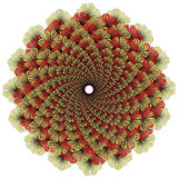 Wektorowy koloru monochromu mandala zdjęcie royalty free