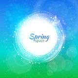 Wektorowy koloru zawijasa pierścionek dla wiosny tła Zdjęcia Stock