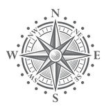 Wektorowy kompas Wzrastał royalty ilustracja