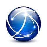 Wektorowy komunikacyjny kuli ziemskiej ikony pojęcie Zdjęcie Stock