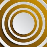 Wektorowy Koncentryczny Złocisty elementu tło ilustracja wektor