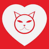 Wektorowy kot i kierowy kształt Zdjęcia Royalty Free
