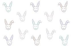 Wektorowy królika tło Wielkanocna tekstura Szczęśliwa Easter cukierki karta Dzieci ilustracyjni dla wzoru, kartki z pozdrowieniam royalty ilustracja