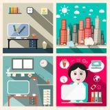 Wektorowy Kreatywnie edukacja pokój ilustracji