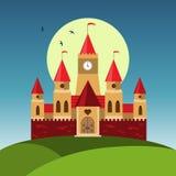 Wektorowy kreskówka kasztel Obraz Royalty Free