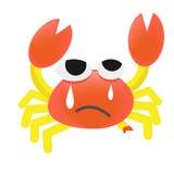 Wektorowy kreskówka krab raniący ilustracja wektor