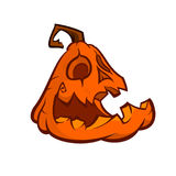 Wektorowy kreskówka wizerunek Jack O ` lampion z pomarańczowym dyniowym białym tłem halloween również zwrócić corel ilustracji we ilustracji
