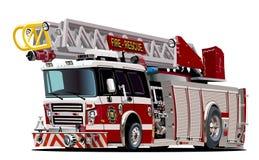 Wektorowy kreskówki samochód strażacki Zdjęcia Royalty Free