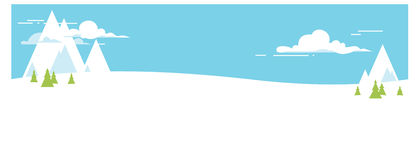 Wektorowy kreskówka krajobraz Zima Zdjęcie Stock