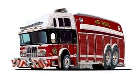 Wektorowy kreskówki samochód strażacki Obrazy Royalty Free