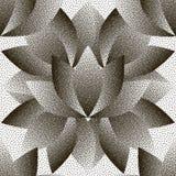 Wektorowy kropkowany abstrakcjonistyczny bezszwowy deseniowy Lotus Obrazy Royalty Free