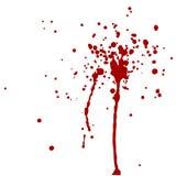 Wektorowy krwionośny pluśnięcie rozbryzguje się czerwieni Ilustracji